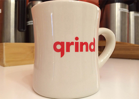 fresh cup of coffee at Grind NYC