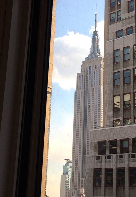 You can see the Empire State Building from the Grind NYC Broadway location!