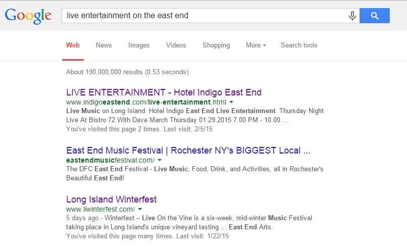Inbound Marketing Long Island Hotel Fills Vacancies