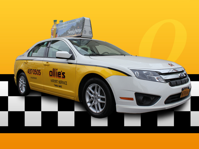 taxi top advertising