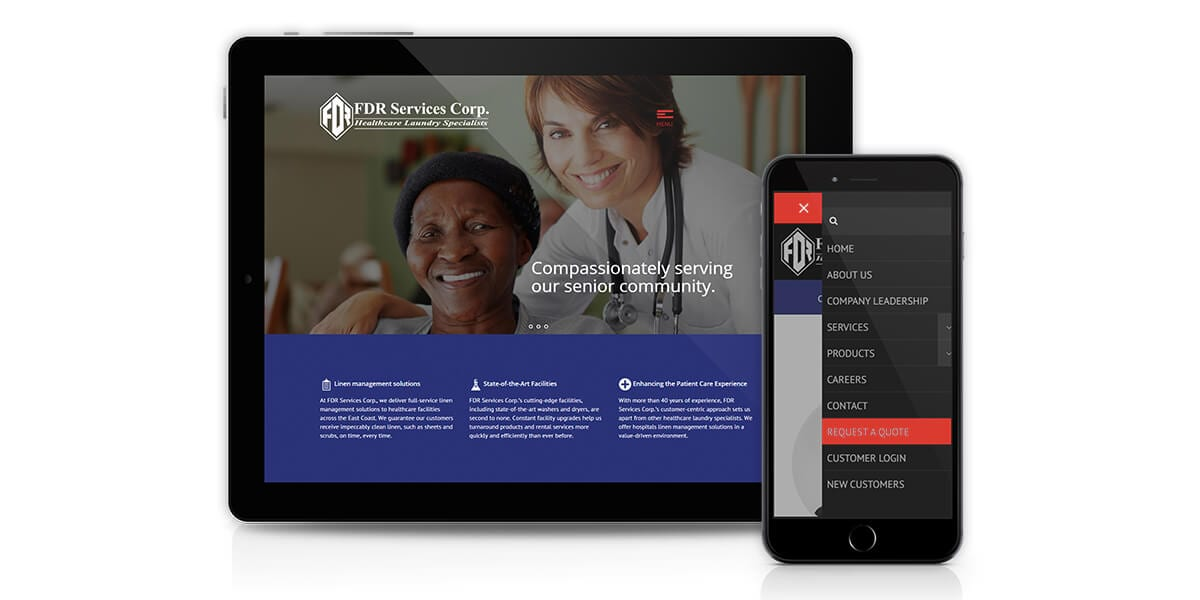 FDR Services Corp - Responsive Website Redesign
