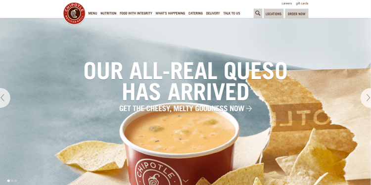 best homepages chipotle