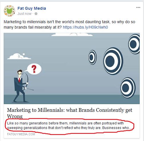 what is a meta description Facebook