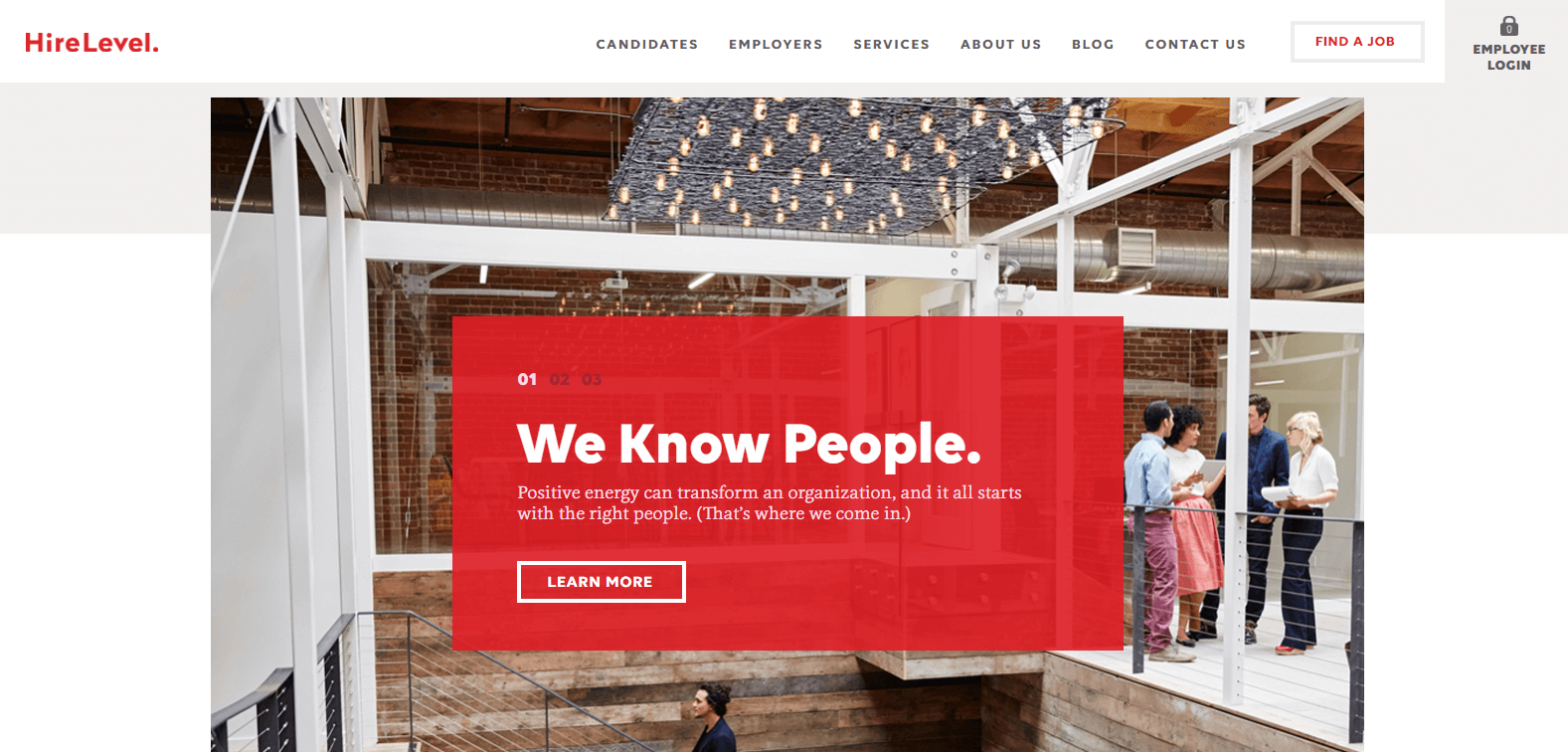 web design inspiration hirelevel