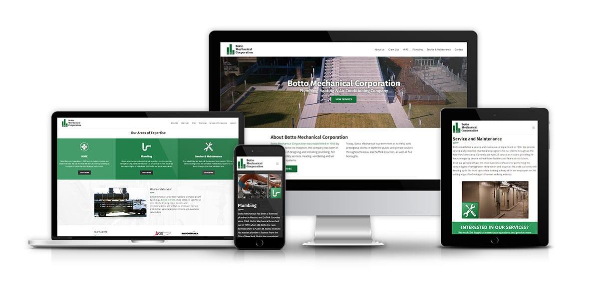 Web Design And Development Botto Mechanical Corporation