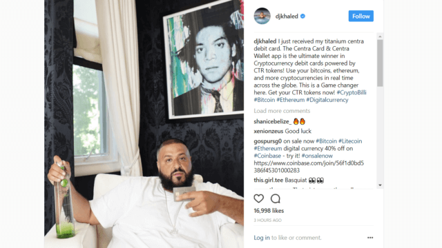 DJ Khaled Crypto Post