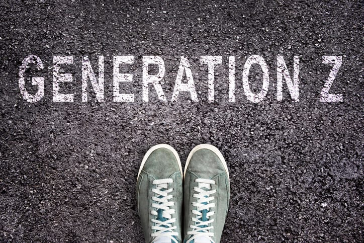 Generation Z written in chalk on the road.