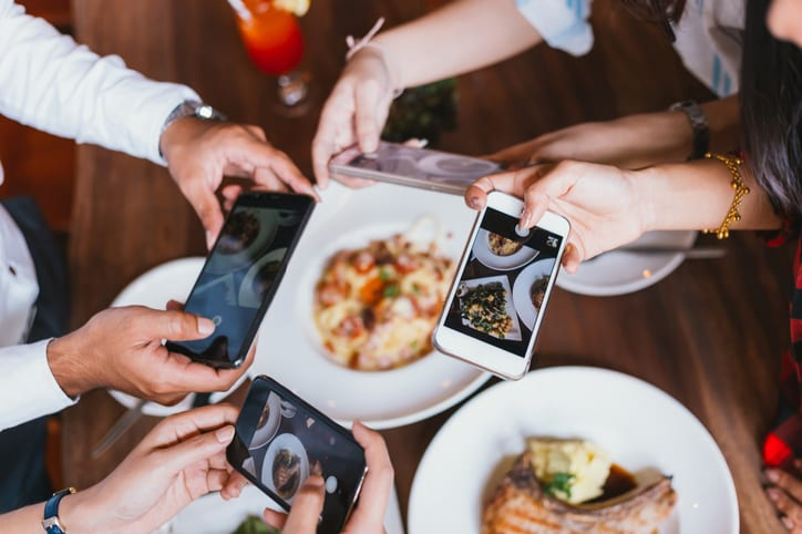Getting customers to take photos of food is one of the bigger mobile marketing trends