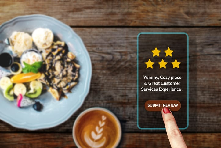 By learning to improve customer experience, a business gains a positive review