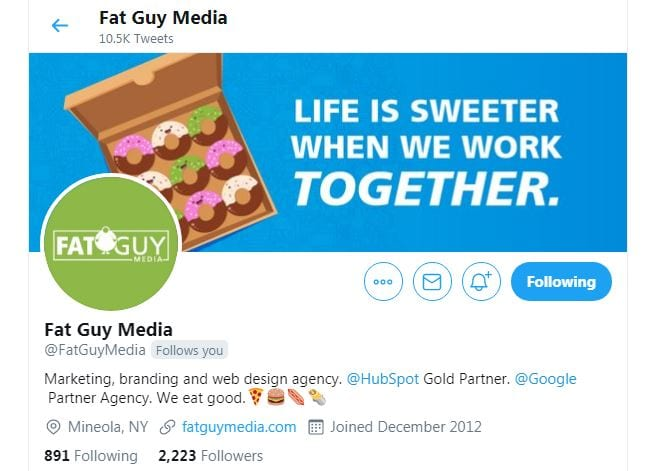 Follow Fat Guy Media to learn how to use emojis in a bio.